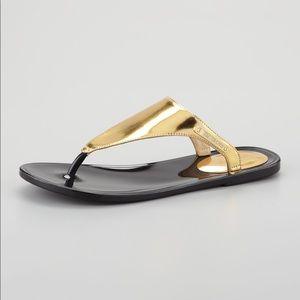 Rachel Zoe Cami Jelly Flip Flop Metallic Sandals